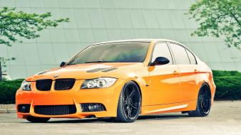Bmw cars orange vehicles 3 series wallpaper