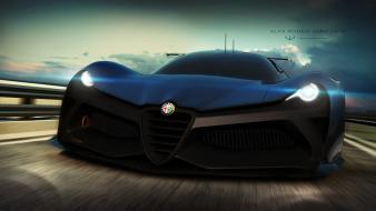 Cars alfa romeo races zero wallpaper