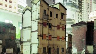 Cityscapes china buildings asia abandoned house shangai wallpaper