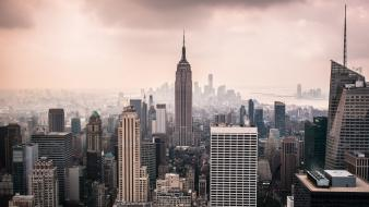 Cityscapes new york city manhattan empire state building wallpaper