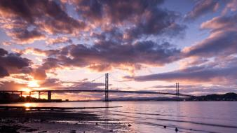 Clouds landscapes nature coast bridges scotland skies wallpaper