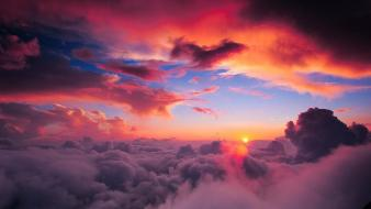 Clouds sun skyscapes skies wallpaper