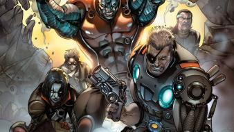 Comics marvel x-force domino cable comic character forge wallpaper