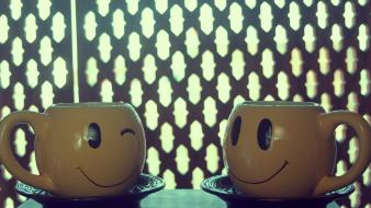 Cups smiley face smiling happyness wallpaper