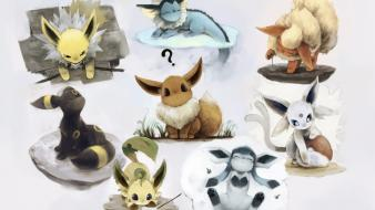 Eevee espeon umbreon vaporeon jolteon leafeon glaceon wallpaper