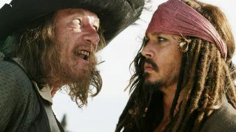 Geoffrey rush captain jack sparrow hector barbossa wallpaper