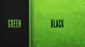 Green black typography colors wallpaper
