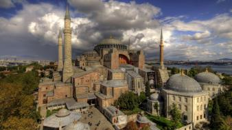 History buildings turkey historical hagia sophia museum istanbul Wallpaper