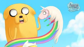 Human jake dog princess bubblegum lady rainicorn Wallpaper