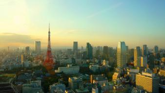 Japan tokyo cityscapes towers Wallpaper