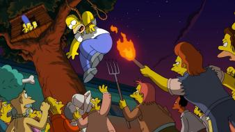 Marge maggie comic book guy pitch fork Wallpaper