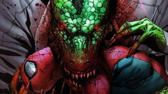 Marvel comics spiderman lizards wallpaper