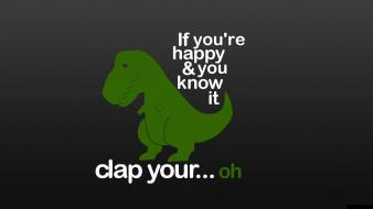 Minimalistic dinosaurs humor funny typography wallpaper