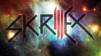 Music multicolor dubstep skrillex logo wallpaper
