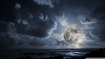 Nature moon watermark Wallpaper