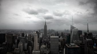 Skylines new york city empire state building Wallpaper