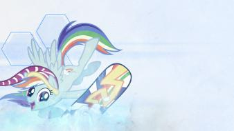 Snowboard my little pony: friendship is magic wallpaper