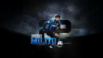 Soccer diego milito football player wallpaper