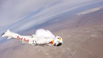 Suit red bull felix baumgartner stratos wallpaper