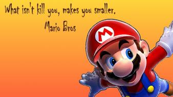 Text mario quotes bros yellow background wallpaper
