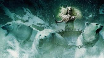 Tilda swinton polar bears chariots chronicles of narnia wallpaper