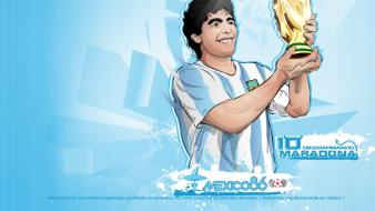 Vector soccer diego maradona football player wallpaper