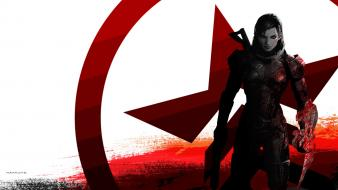 Video games mass effect renegade femshep Wallpaper