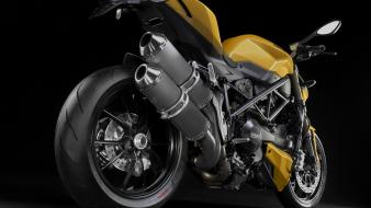 Yellow motorbikes ducati streetfighter angle wallpaper