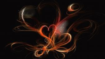 Abstract love digital art hearts wallpaper