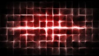 Abstract red lines wallpaper