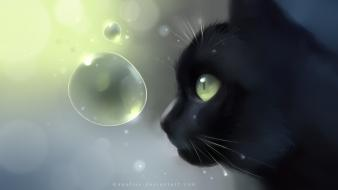 Animals bubbles worlds digital art artwork apofiss wallpaper