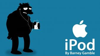 Apple inc. ipod the simpsons barney gumble wallpaper