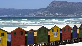 Beach houses false south africa bay Wallpaper