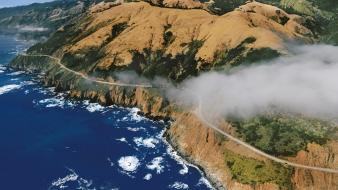 California highway aerial view wallpaper