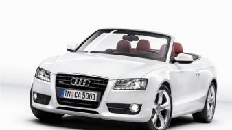 Cars audi vehicles a5 white cabriolet 2010 wallpaper