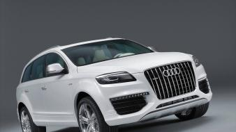 Cars audi vehicles q7 white suv v12 german wallpaper