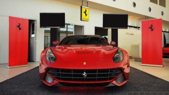 Cars ferrari vehicles red f12 berlinetta Wallpaper