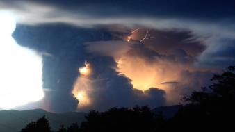 Chile clouds nature lighting wallpaper