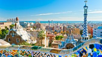 Cityscapes barcelona europe spain cities gaudi wallpaper