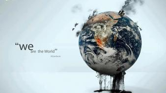 Digital art globe ecology creative global heating wallpaper