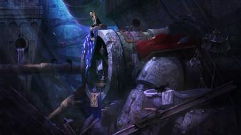 Fantasy art sewer gravity rush wallpaper