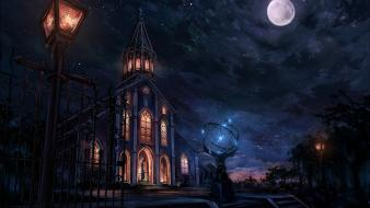 Fate/stay night stars buildings fate/zero moons fate series wallpaper