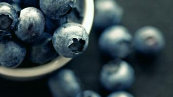 Fruits depth of field blueberries blueberry wallpaper