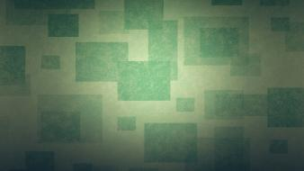 Green abstract minimalistic cubes squares boxes wallpaper