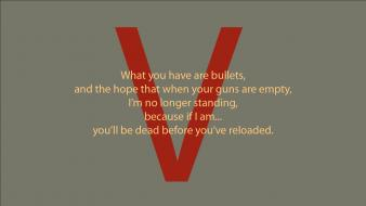 Green minimalistic red quotes v for vendetta wallpaper