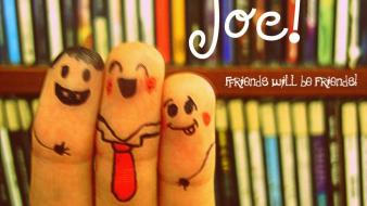 Humor fingers friendship wallpaper