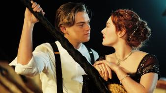 Kate winslet titanic film leonardo dicaprio lovers 3d wallpaper