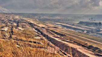 Landscapes nature germany brown bavaria coal mining grevenbroich wallpaper