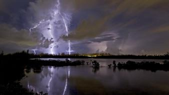 Landscapes nature national geographic lightning Wallpaper