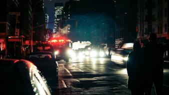 Light cityscapes night cars urban cities hurricane sandy Wallpaper